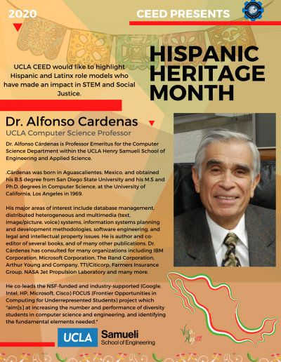 Dr. Alfonso Cardenas Hispanic Heritage Month Highlight Flyer