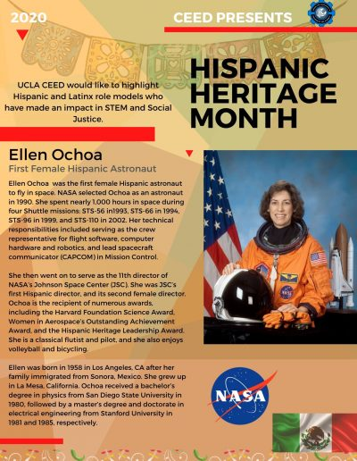 Ellen Ochoa Hispanic Heritage Month Highlight Flyer
