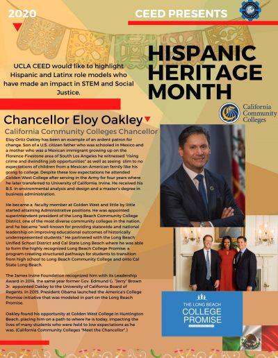 Eloy Ortiz Oakley Hispanic Heritage Month Highlight Flyer
