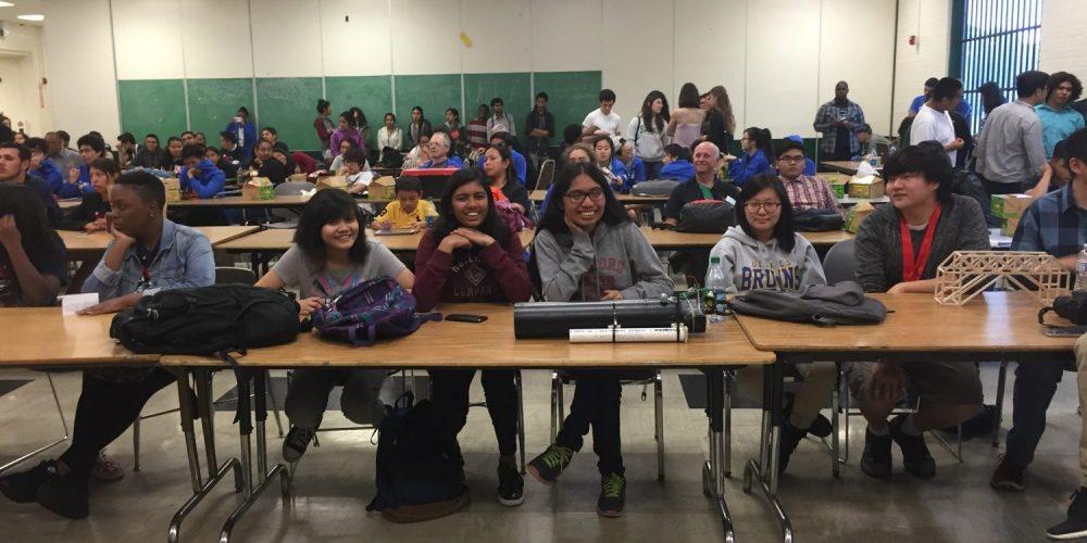 MESA participants pose in classroom.