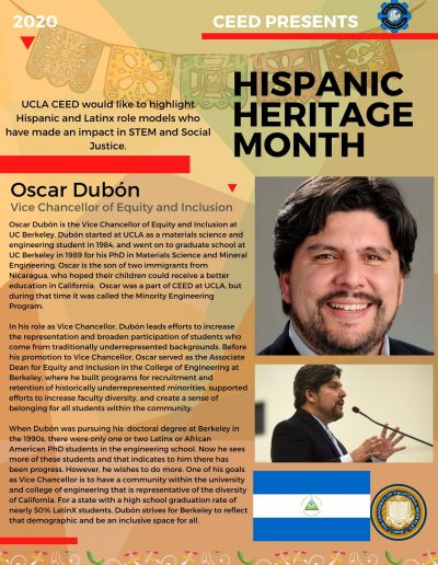 Oscar Dubon Hispanic Heritage Month Highlight Flyer