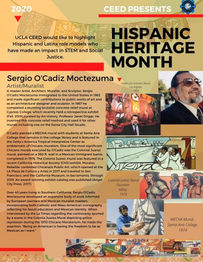 Sergio O'Cadiz Hispanic Heritage Month Highlight Flyer