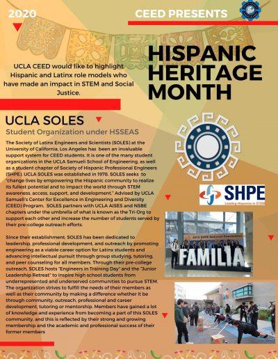UCLA SOLES Hispanic Heritage Month Highlight Flyer