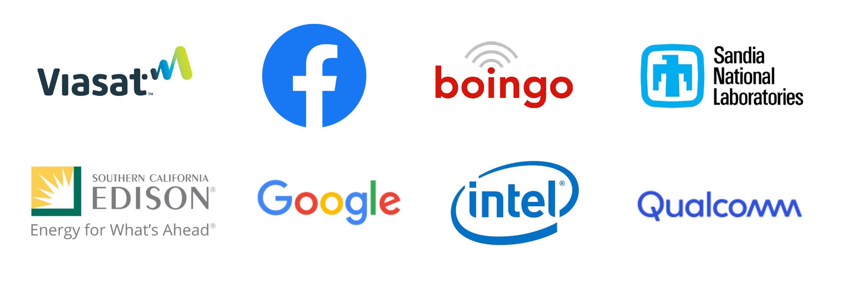 Viasat, Facebook, Boingo, Sandia National Labs, SoCal Edison, Intel, Qualcomm